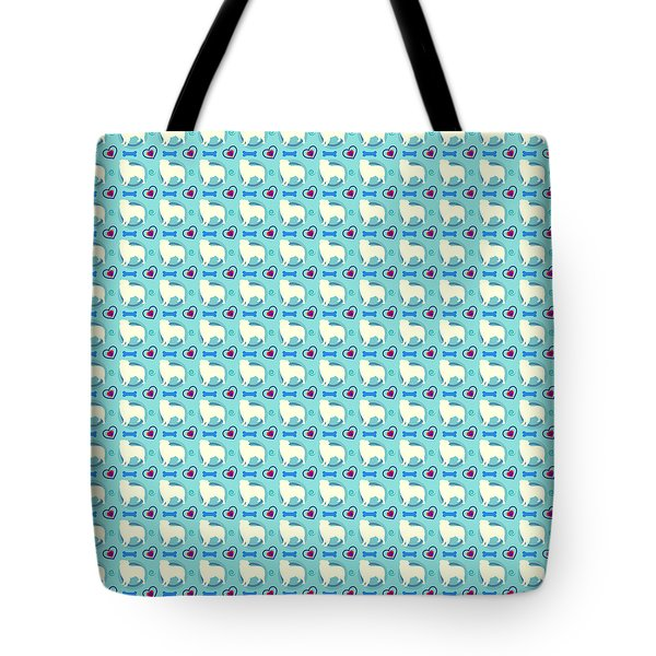 Aussie Dog Pattern Tote Bag