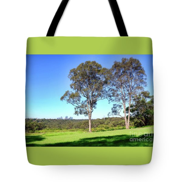 Tote Bag featuring the photograph Aussie Gum Tree Landscape By Kaye Menner by Kaye Menner
