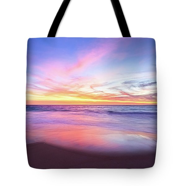 Tote Bag featuring the photograph Aussie Sunset, Claytons Beach, Mindarie by Dave Catley