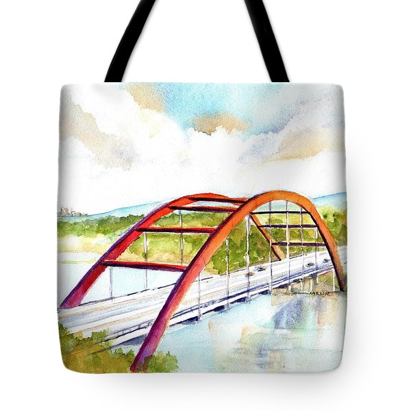 Austin 360 Bridge - Pennybacker Tote Bag