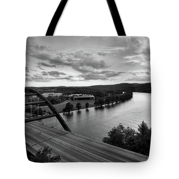 Austin 360 Pennybacker Bridge Sunset Tote Bag