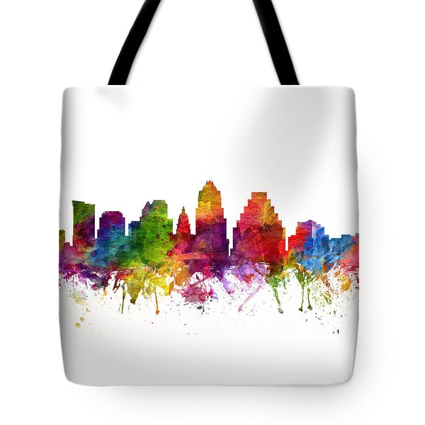 Austin Cityscape 06 Tote Bag by Aged Pixel