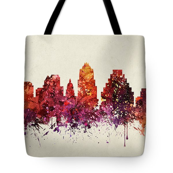 Austin Cityscape 09 Tote Bag by Aged Pixel