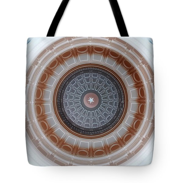 Austin Capitol Dome In Gray And Brown Tote Bag