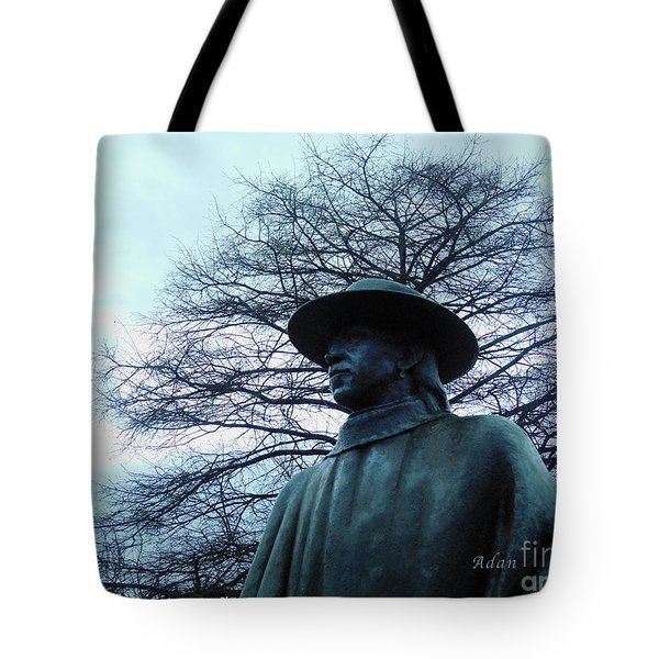 Austin Hike And Bike Trail - Iconic Austin Statue Stevie Ray Vaughn - Two Tote Bag by Felipe Adan Lerma