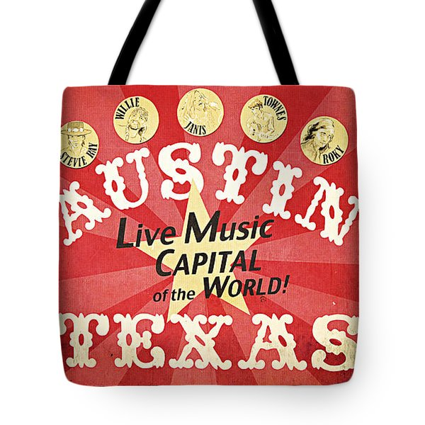 Austin Live Music Tote Bag by Trish Mistric