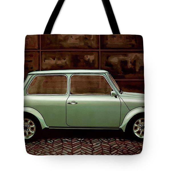 Austin Mini Cooper Mixed Media Tote Bag