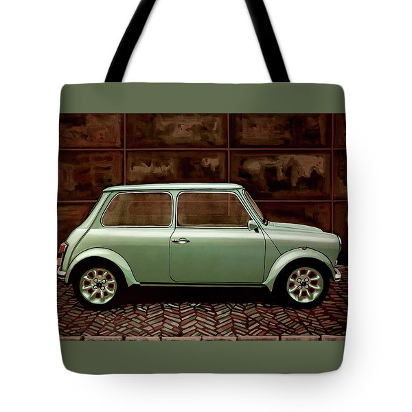 Austin Mini Cooper Mixed Media Tote Bag