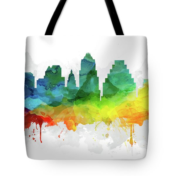 Austin Skyline Mmr-ustxau05 Tote Bag by Aged Pixel