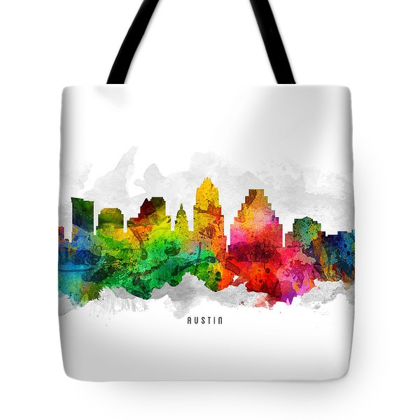 Austin Texas Cityscape 12 Tote Bag by Aged Pixel