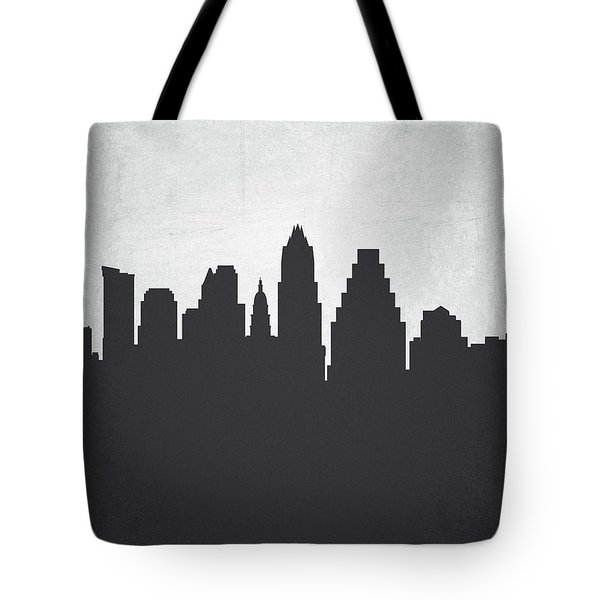 Austin Texas Cityscape 19 Tote Bag by Aged Pixel
