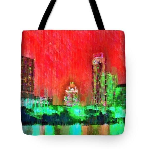 Austin Texas Skyline 107 - Pa Tote Bag