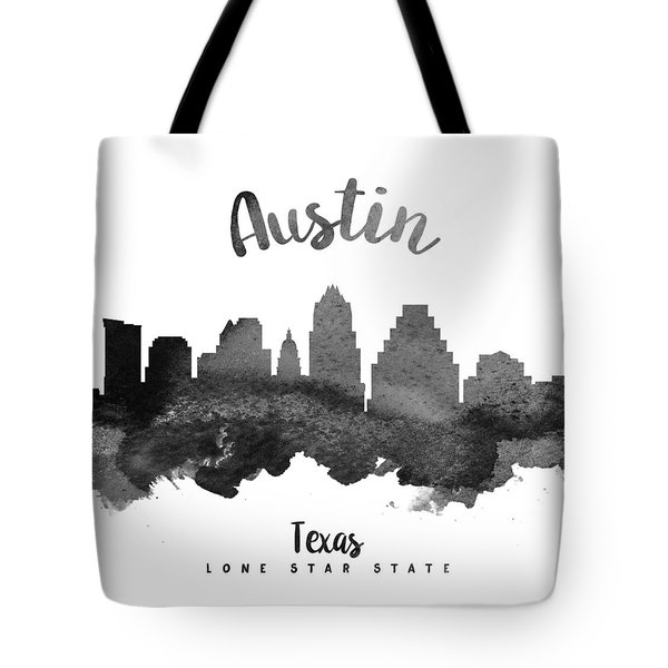 Austin Texas Skyline 18 Tote Bag by Aged Pixel