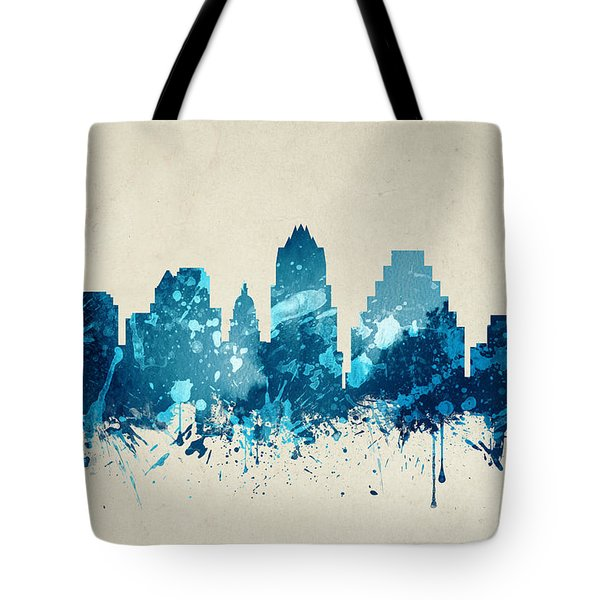 Austin Texas Skyline 20 Tote Bag by Aged Pixel
