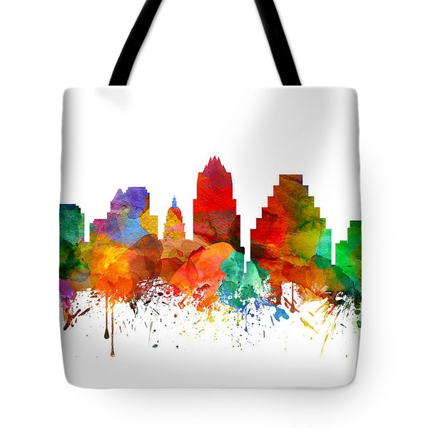 Austin Texas Skyline 21 Tote Bag by Aged Pixel