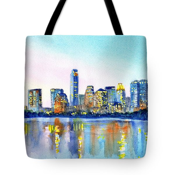 Austin Texas Skyline Tote Bag