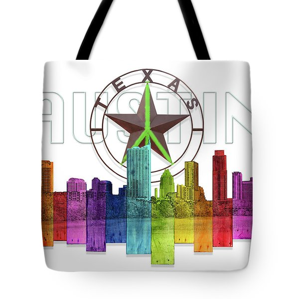 Austin Texas Skyline Tote Bag by Doug Kreuger