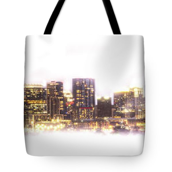 Austin Texas Skyline With White Blackground  Tote Bag