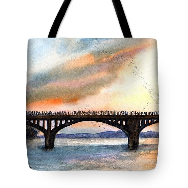 Austin, Tx Congress Bridge Bats Tote Bag