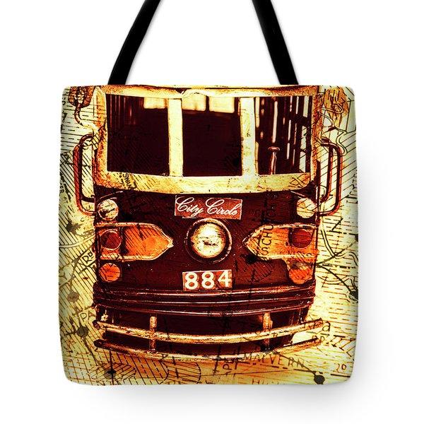 Australia Travel Tram Map Tote Bag