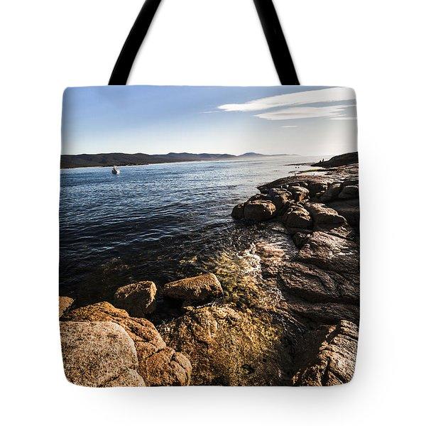 Australian Bay In Eastern Tasmania Tote Bag