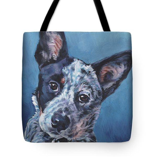 Tote Bag featuring the painting Australian Cattle Dog by Lee Ann Shepard
