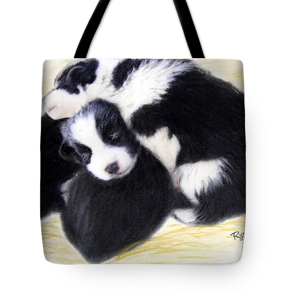 Australian Cattle Dog Puppies Tote Bag