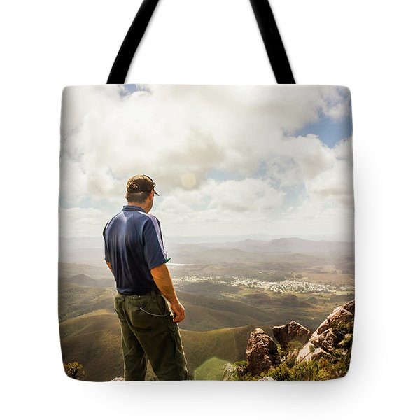 Australian Explorer Sightseeing Mt Zeehan Tote Bag