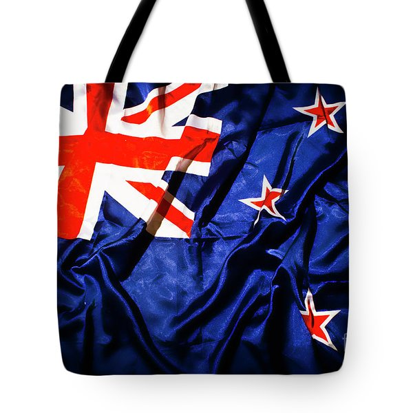New Zealand Flag Art Tote Bag