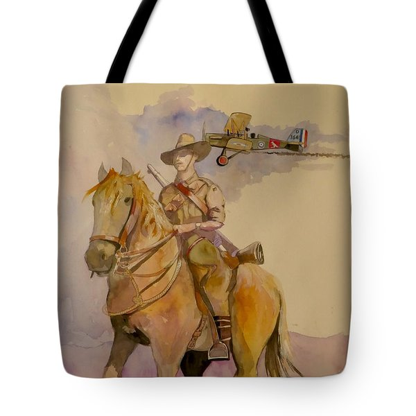 Australian Light Horse Regiment. Tote Bag by Ray Agius