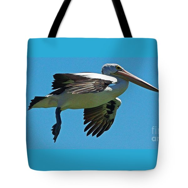 Australian Pelican In Flight Tote Bag by Blair Stuart
