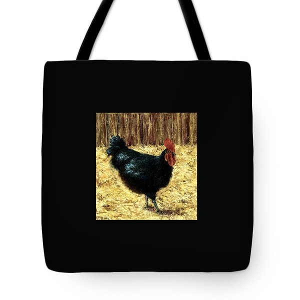 Australorp Rooster Tote Bag by Jill Musser