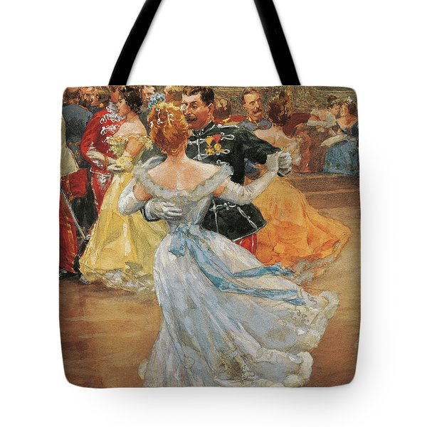 Austria, Vienna, Emperor Franz Joseph I Of Austria At The Annual Viennese Ball  Tote Bag by Wilhelm Gause