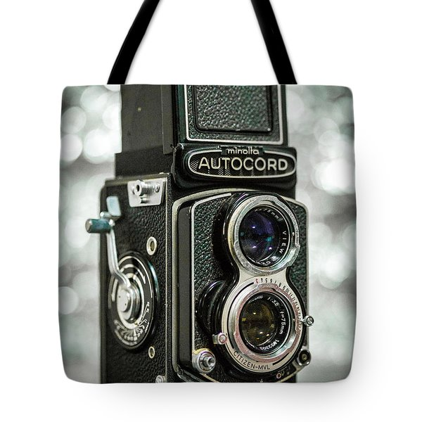 Tote Bag featuring the photograph Autocord by Keith Hawley