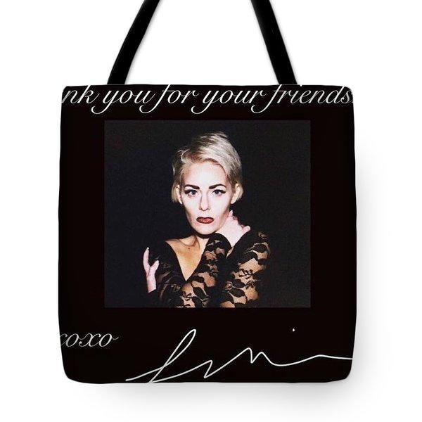 Autographed Portrait  Tote Bag