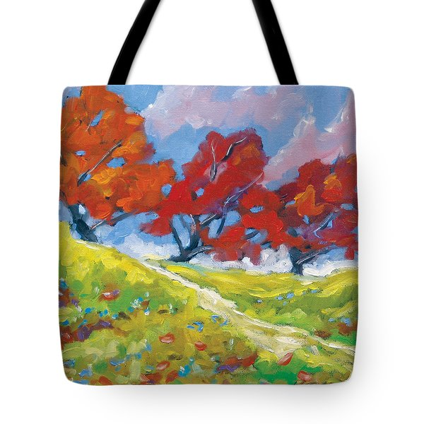 Automn Trees Tote Bag by Richard T Pranke