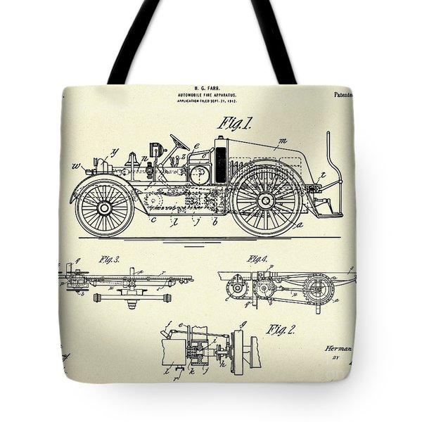 Automobile Fire Apparatus-1916 Tote Bag