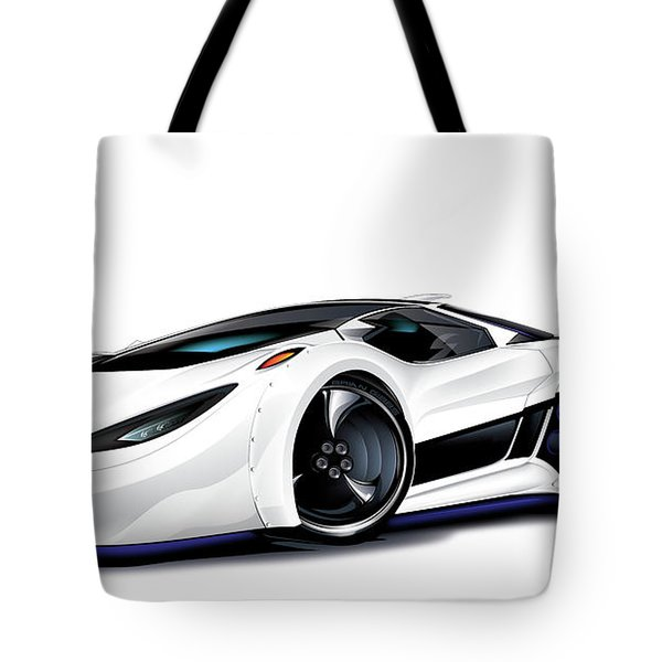 Tote Bag featuring the drawing Automobili Lamborghini Concept by Brian Gibbs