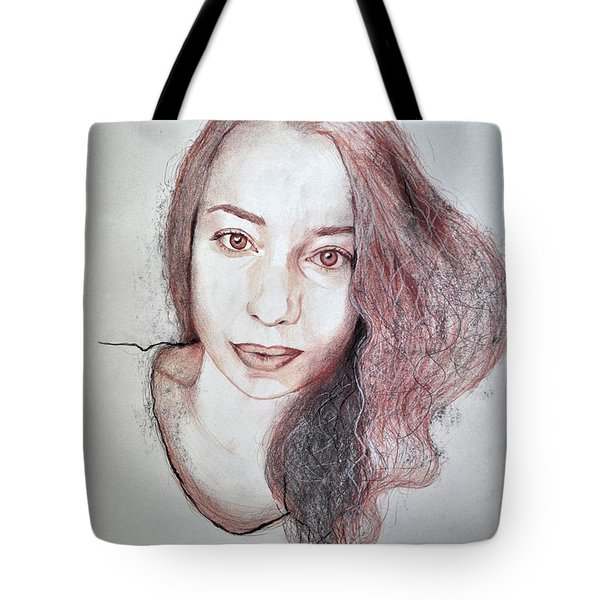 Autoportrait With Pencils And Charcoal Tote Bag