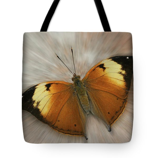 Autumn Leaf Butterfly Zoom Tote Bag