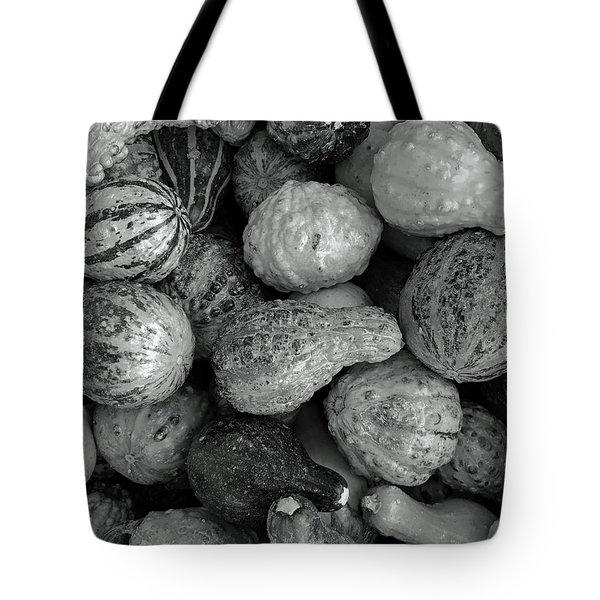 Autum Pumpkin Bw Tote Bag