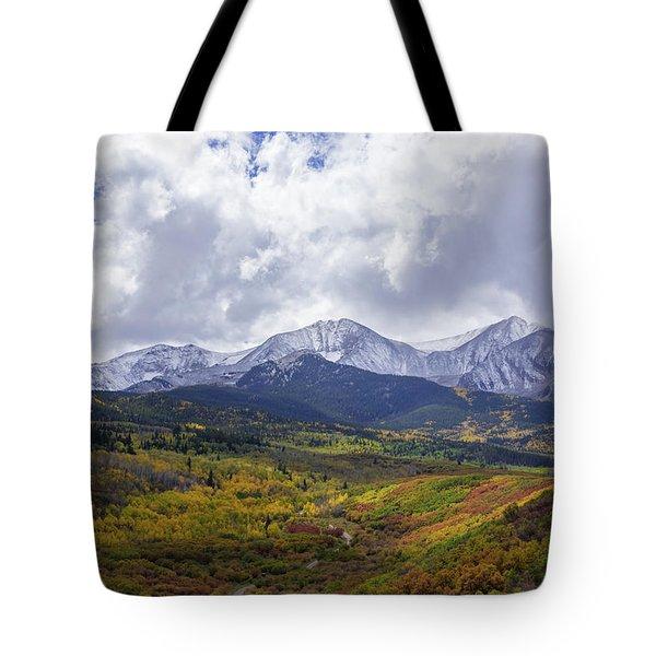 Autumn Abounds Below Mt. Sopris Tote Bag
