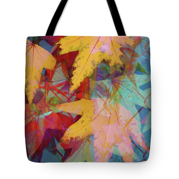 Autumn Abstract Tote Bag by Robert Ball