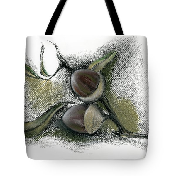 Autumn Acorns On An Oak Twig Tote Bag