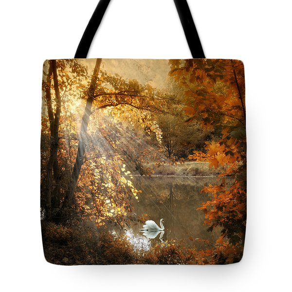 Tote Bag featuring the photograph Autumn Afterglow by Jessica Jenney