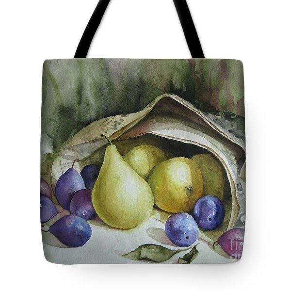 Tote Bag featuring the painting Autumn Again by Elena Oleniuc