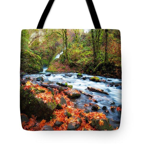 Autumn Along Bridal Veil Tote Bag