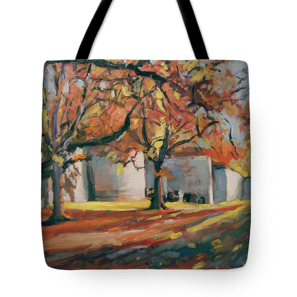 Autumn Along Maastricht City Wall Tote Bag