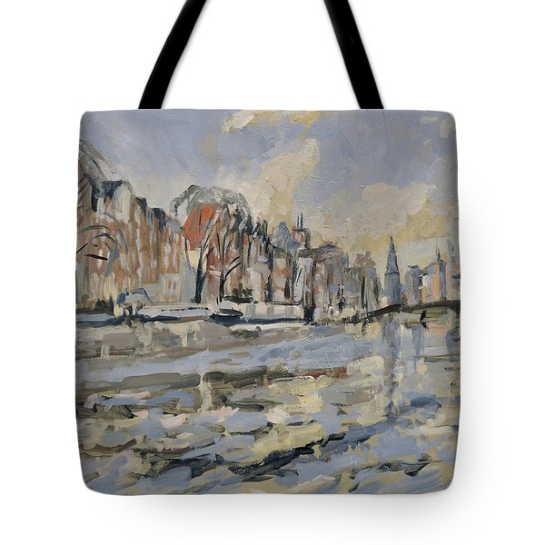 Autumn Along The Amstel In Amsterdam Tote Bag