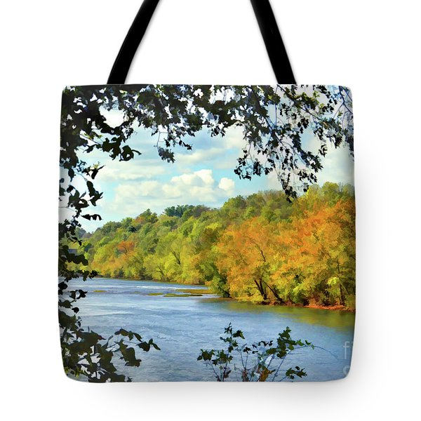Autumn Along The New River - Bisset Park - Radford Virginia Tote Bag